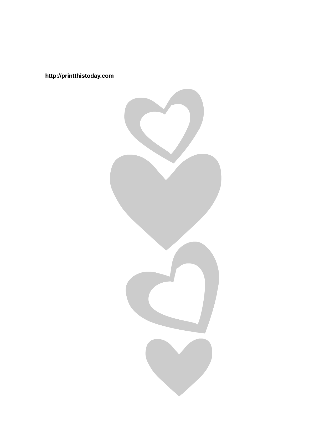image relating to Printable Heart Stencils referred to as Free of charge Printable Hearts Stencils