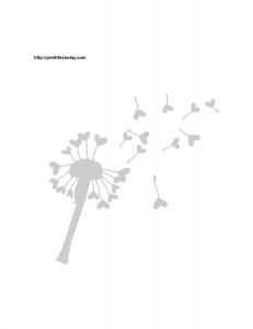 Love dandelion stencil