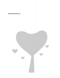 Love tree stencil