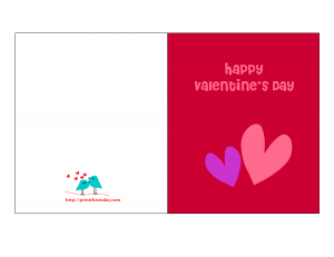 Happy Valentine Card featuring two hearts