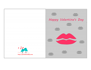 Valentine card featuring lips