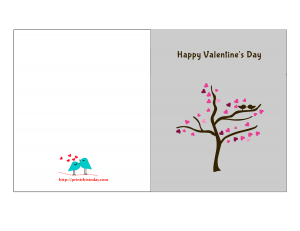Love tree valentine card