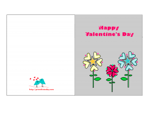 Valentines card featuring Flowers