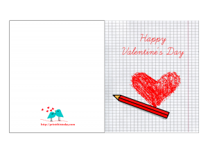 Valentine card with hand made heart