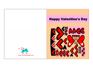 Valentine card with hearts pattern