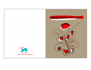 Valentine card to print
