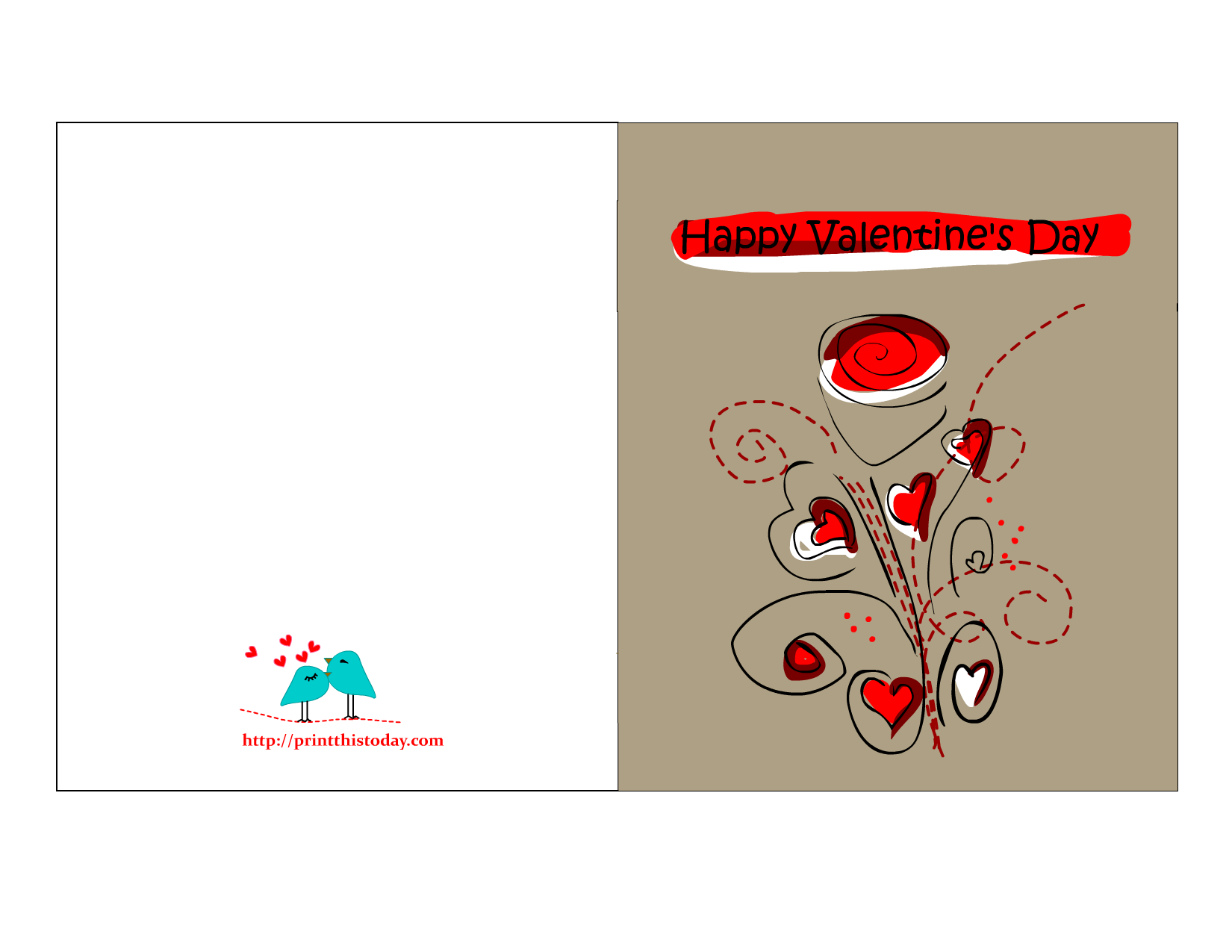 This is a picture of Bewitching Valentine Printables Cards