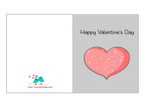 Happy Valentine Card featuring heart