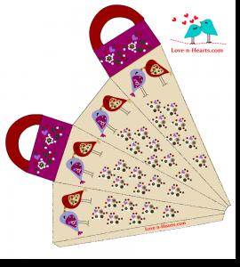 Valentine gift Bag with Love Birds