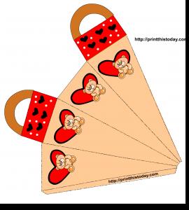 Cute Favor bag with Teddy Bear