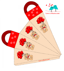 Favor Bag with teddy bear and Balloons
