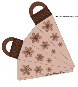 Gift bag with brown Flowers
