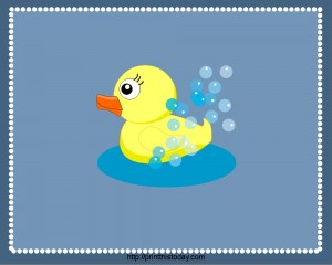 PlaceMats to print featuring Rubber Ducky