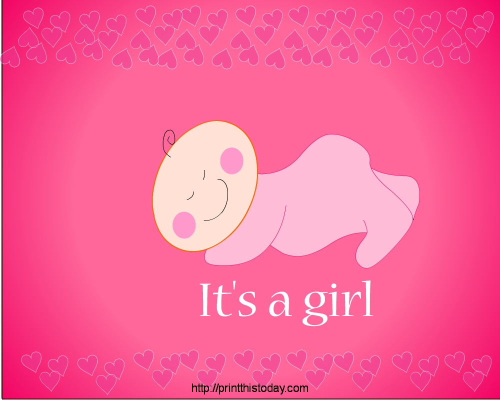 it s a girl african american girl baby shower party place mat