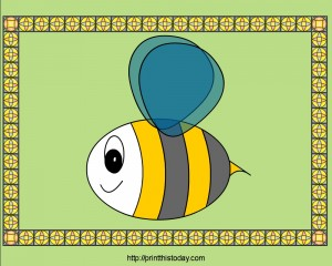 Free Printable PlaceMats design with Honey Bee