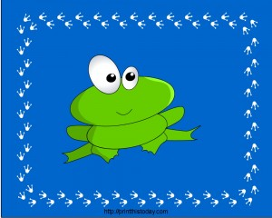 Cute PlaceMat design featuring Little Frog