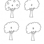 draw apples, math worksheet