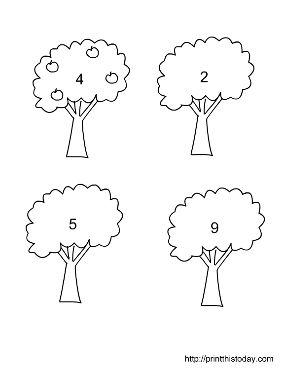 Drawing 1-10 Objects, Kindergarten Math Worksheets