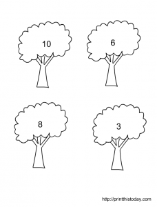 drawing objects 1-10 kindergarten math worksheet