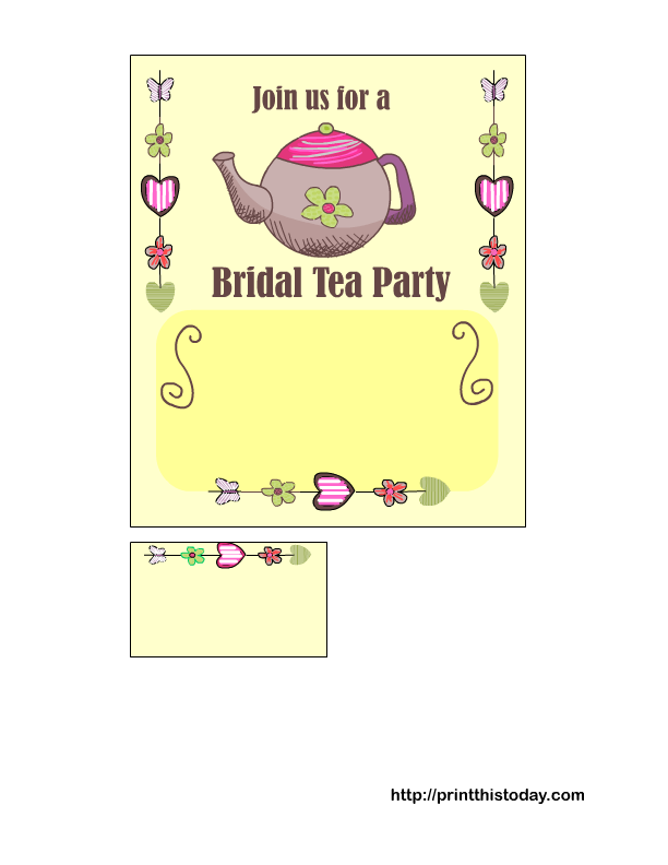 Tea Party Themed Bridal Shower Invitations is great invitations sample