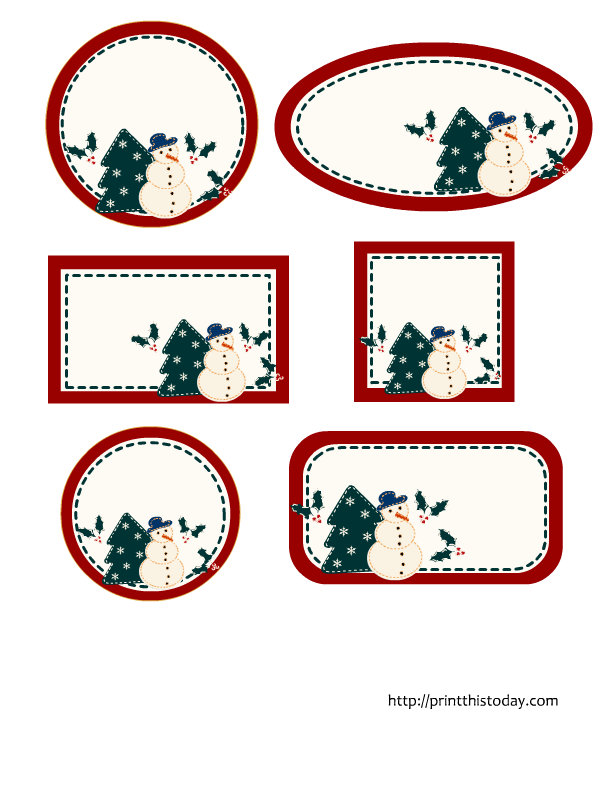 photo about Christmas Labels Printable named Editable Xmas Labels within 6 alternative styles free of charge printable