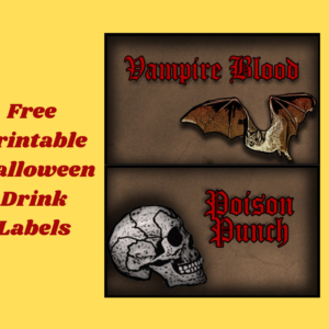 6 Free Printable Halloween Drink Labels