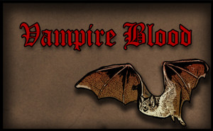 Vampire Blood-free printable halloween drink label
