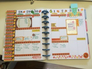 free printable fall themed washi tape in planner