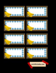 Jar Labels featuring Bananas