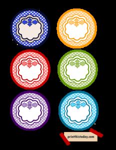 2. Colorful Jar and Pantry Labels {set 2}