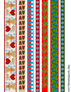 printable christmas washi tapes