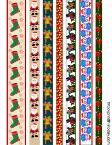 free printable washi tapes