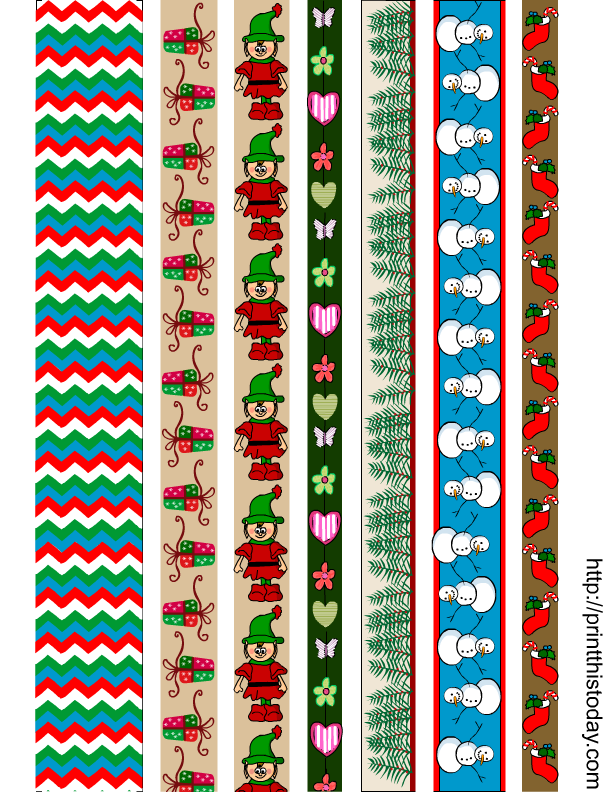It is a photo of Universal Printable Washi Tape