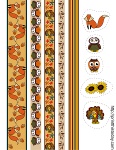 free printable fall themed washi tapes and stickers