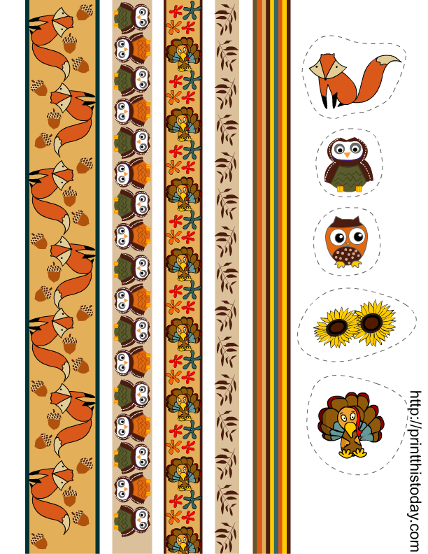 This is a graphic of Striking Printable Washi Tape