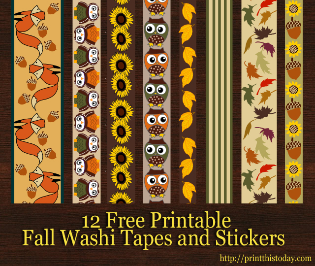 photograph regarding Free Printable Washi Tape called 12 Absolutely free Printable Drop Washi Tapes and Stickers