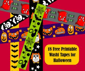 Free Printable Halloween Washi Tape