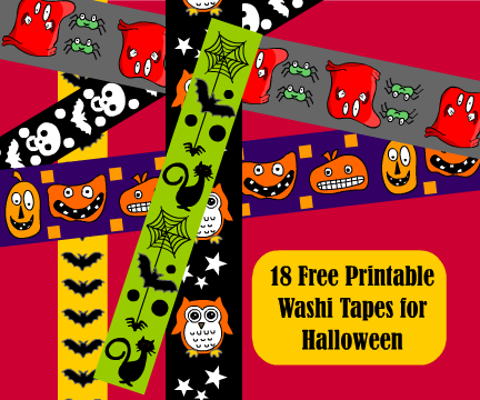 Free Printable Halloween Washi Tape