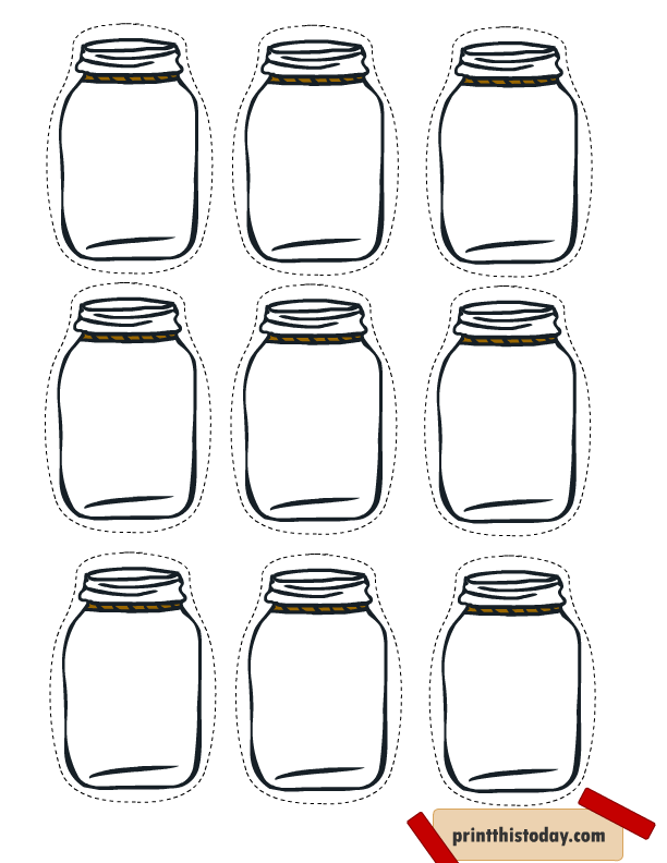 It's just a picture of Enterprising Mason Jar Printable
