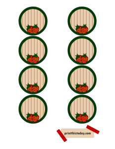 Jar Lid Labels featuring Strawberries