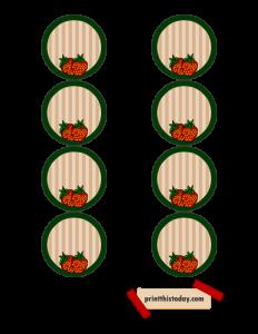 Jar Lid Labels featuring Strawberries