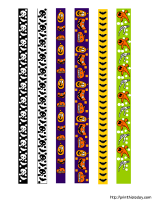 free printable Halloween washi tape set 1