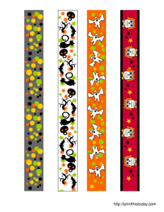 Free printable colorful Halloween washi tape
