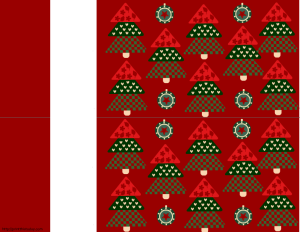 Wine bottle labels with Christmas Tree