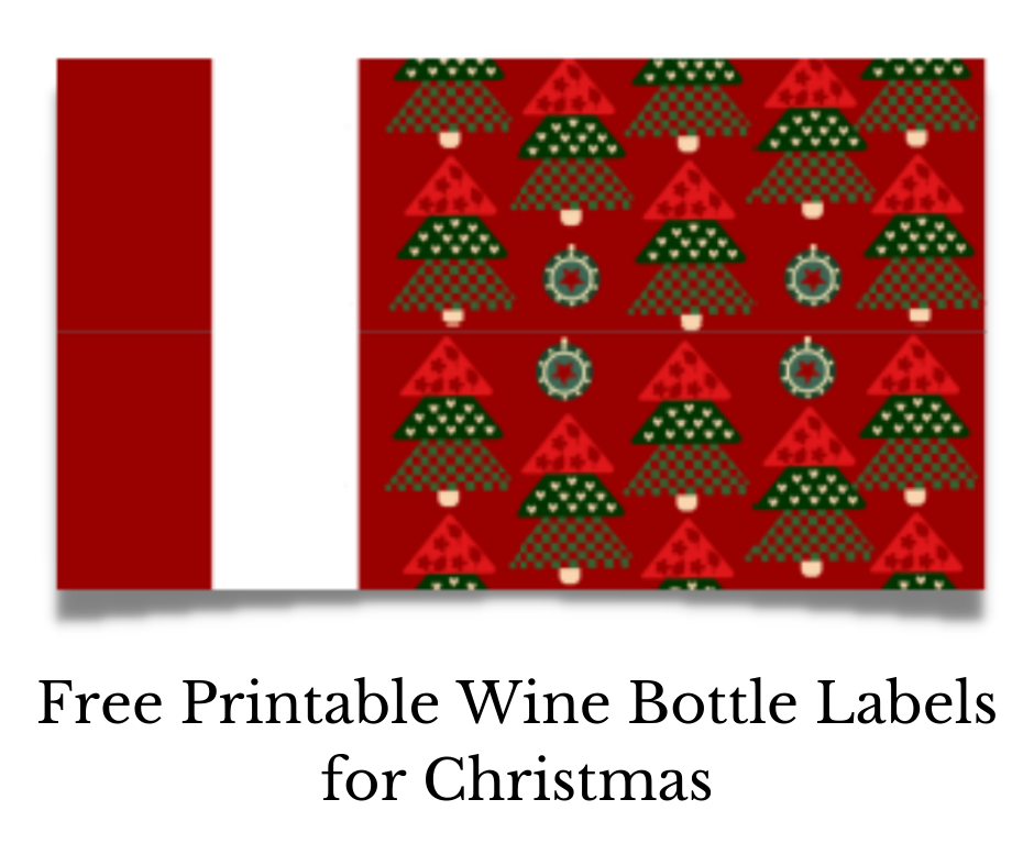 Free Printable Wine Bottle Labels for Christmas