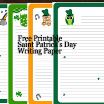 Saint Patrick's Day Writing Paper