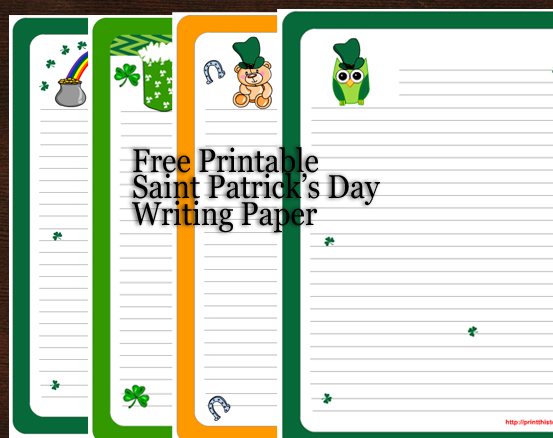 Free Worksheets free printable st patrick day worksheets : Saint Patricku0026#39;s Day Writing Paper {Free Printable}