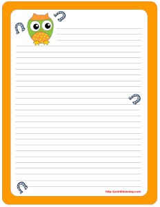 Saint Patrick's Day Writing Paper featuring Cute Owl