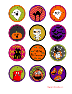 Free Printable Halloween Cupcake Toppers Sheet