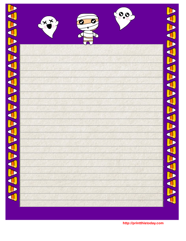 graphic about Free Printable Writing Paper With Borders identify No cost Printable Halloween Producing Paper